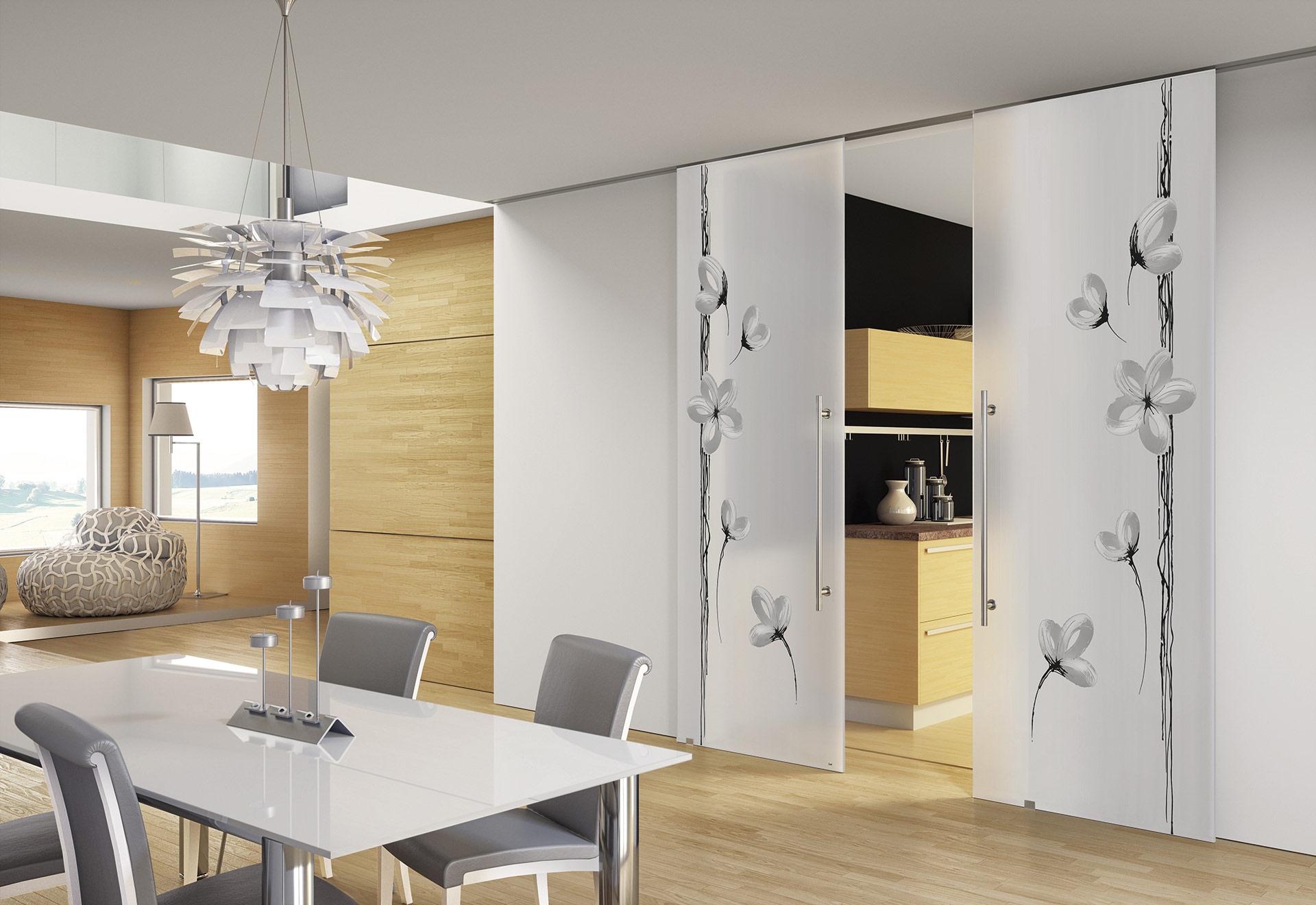 Cristal porte e vetri decorati bergo porte for Mobili soggiorno decorati